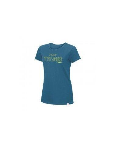 Футболка Wilson ldy Play Tennis Cotton Tee Ultramarine/Solar Lime SS15 купить в Киеве Украина